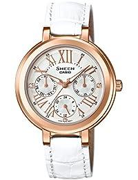[カシオ]CASIO 腕時計 SHEEN スワロフスキー・クリスタルインデックス 国内メーカー保証1年付き SHE-3034GLJ-7AJF レディース
