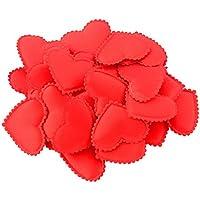 Lovoski 結婚式 装飾 スポンジ製 ハート形 花びら 造花 クラフト 工芸品 紙吹雪 全5色選べ - レッド