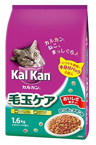 カルカン ドライ 成猫用 毛玉ケア かつおとチキン味 1.6kg [キャット...