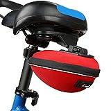 自転車 サドルバッグ JNTworld サドルバッグ 自転車 収納ボックス 防水 大容量 拡大可能 かんたん装着 丈夫 サドルポーチ シンプル カッコイイ コンパクト 全2色 レッド
