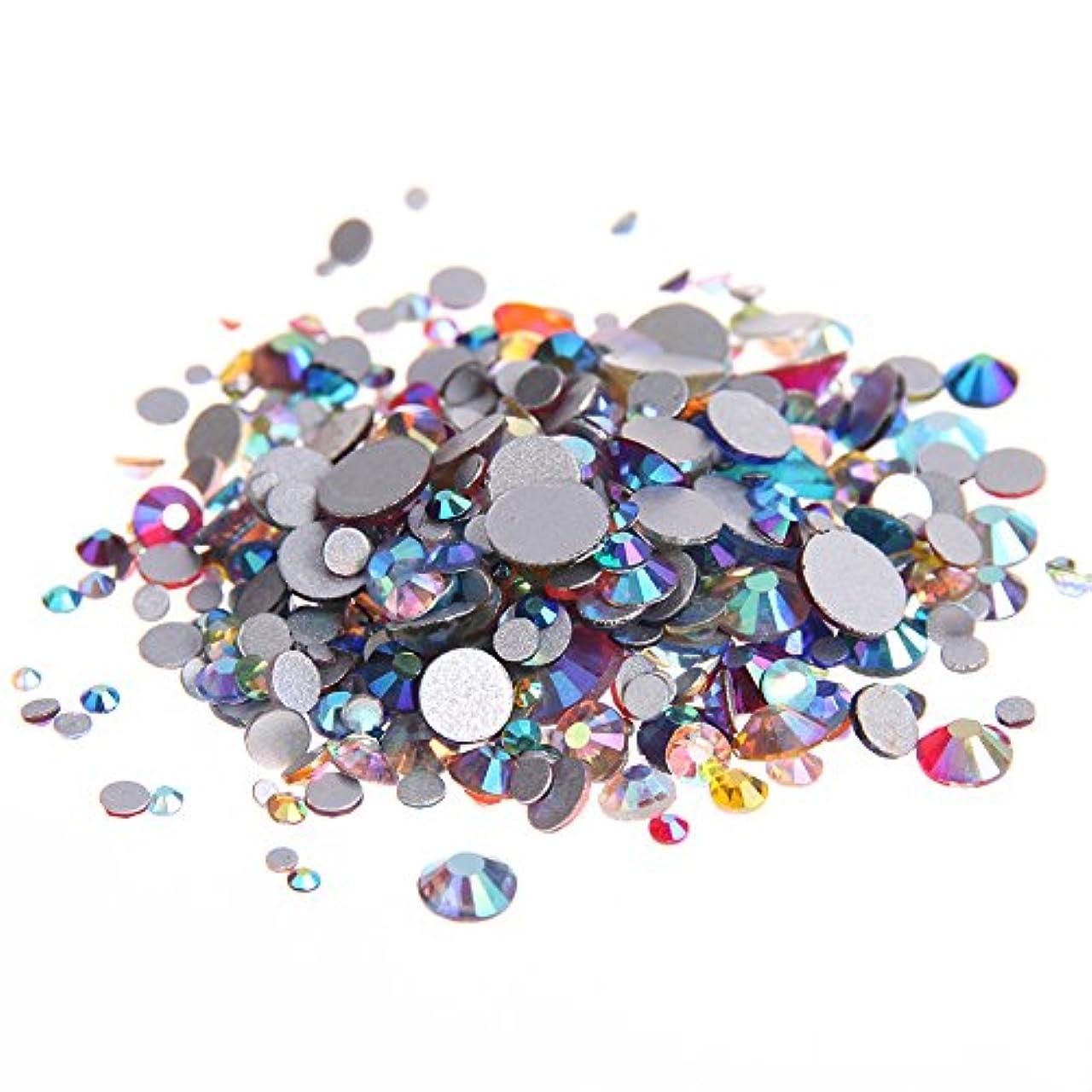 進捗宿題汚物Nizi ジュエリー ブランド 混合ABの色 ラインストーン はガラスの材質 ネイル使用 型番ss3-ss30 (SS16 1440pcs)