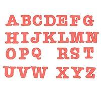 SM SunniMix 冷蔵庫マグネット アルファベット 子ども 英語学習 文字ステッカー 早期学習玩具 EVA製 6色選択 - 赤