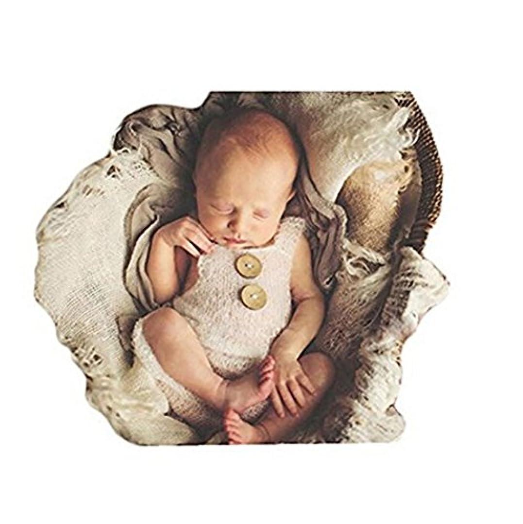 ご意見モール仕えるdiconna 新生児 ベビー 女の子 男の子 写真プロップ かわいい ニット ロンパース 寝相アート ベビー着ぐるみ 写真撮りの衣装 記念撮影 出産祝い 百日祝い 8色展開 (白)