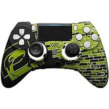 スカフ インパクト SCUF IMPACT OpTic Gamingプロチームモデル Greenwall (EMR付 / トリガーシステム機能付 / ミリタリーグレードグリップ / プロゲーマー仕様スティック) PS4対応コントローラー [並行輸入品]