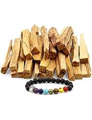 JL Local 天然パロサント香 - スマッジ、クレンジング、瞑想、ヨガの練習に - ホームフレグランス/アロマセラピーに 25 Sticks
