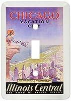 3drose LSP _ 130400_ 1ビンテージ旅行ポスターのシカゴWorlds Fair。JPG Single切り替えスイッチ