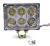JX-SHOPPU 最新型 高輝度 コンパクトで熱の発散に優れてる設計 LED ワークライト 作業灯 18w 12v~24v対応 トラクター トラック用品、車外灯 オリジナルデザイン