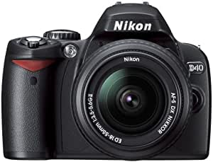 Nikon デジタル一眼レフカメラ D40 ダブルズームキット ブラック D40BWZ