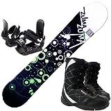 ツマ(ZUMA) 3点セット スノーボード WAVE-9 グリーン163cm 金具M/L ブーツ28cm ワックス施工付き