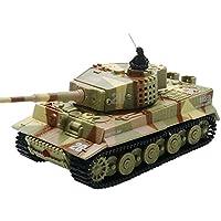 ARRIS(アリス) 多色 1/72 Mini ラジコン戦車ミリタリー ドイツ タイガー タンク LEDライト搭載 手のひらサイズ おもちゃ 子供用(1PCS)日本語説明書付