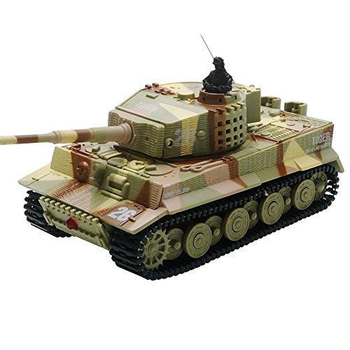 ARRIS(アリス) 多色 1/72 手のひらサイズ Mini RC ミリタリー ドイツ タイガー 戦車 / タンク LEDライト搭載 おもちゃ 子供用(1PCS)日本語説明書付