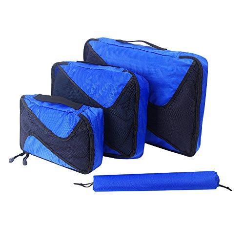 パッキング キューブ、ARKTEK 様々なサイズ 軽量 スプリット防止 防水 パッキング旅行荷物 (ロイヤルブルー)