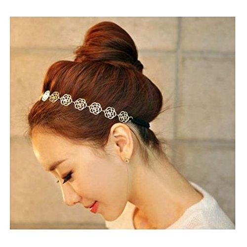 [해외]귀여운 카멜리아 모티브 헤어 밴드 멋진 머리띠/Cute Camellia motif hair band nice headband