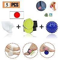 アーチサポート 扁平足 サポーター マッサージボール 足底筋膜炎 かかとの痛み かかとのひび割れ むくみやチクチクを軽減(5 ピース)