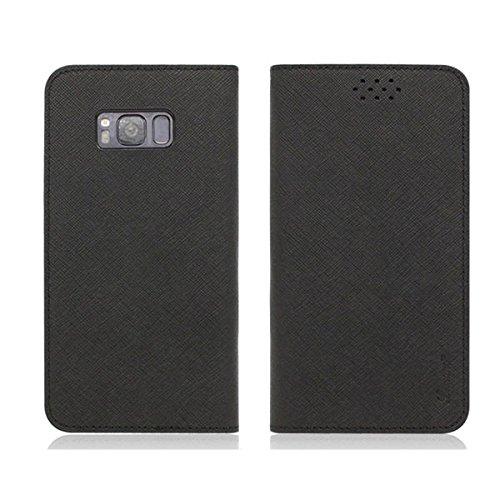 Galaxy S4 / ギャラクシー S4 (SC-04E) 対応 ケース Saffiano Leather Flip サフィアノ レザー フリップ ウォーレット ケース スマホ カバー Black / ブラック