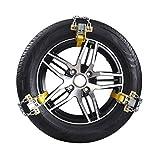 MAXWIN(マックスウィン) 金属タイヤチェーン タイヤチェーン 滑り止めチェーン 205~225mm 2輪分 軽量 ジャッキアップ不要 手袋付属 コンパクト収納 雪対策 事故 防止 雪道 凍結 ミニバン K-TIR02-M6