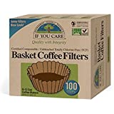 If You Care 100%植物由来 無漂白 コーヒーマシン用フィルター 立ロシ20cm (8~12カップ用) 100枚入り [並行輸入品]