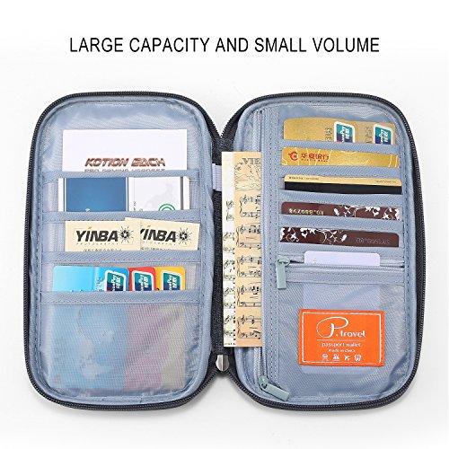 Hozone パスポートケース 海外旅行 便利収納 チケット、カードや紙幣 出張 ビジネス カバン トラベルポーチ おしゃれ メンズ クラッチバッグ メンズ 通帳 カード入れ スマホ iphone6/6s/7/7 plus (灰色の)