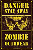 Danger Stay Away Zombie Outbreak Lined Notebook: 110 Blank Lined (6x9) Pages to Jot Down Your Thoughts