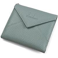 財布 レディースウォレットクリエイティブレザーウォレットエンベロープショートレディースミニウォレット レジャー財布 ( Color : Gray blue )