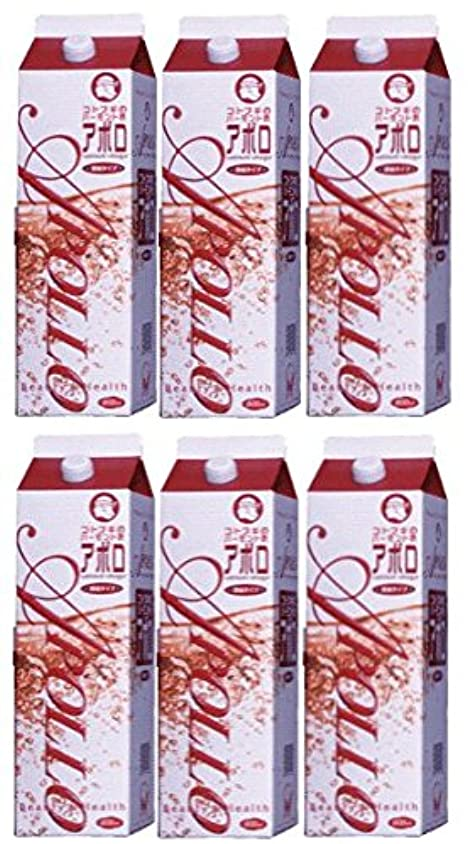 在庫概念ハックバーモント酢 アポロ1800ml 6本セット