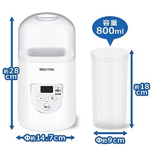 アイリスオーヤマ ヨーグルトメーカー プレミアム 温度調節機能付き IYM-012