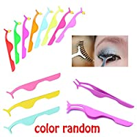 Random Color Beauty Colorful Choice Multifunctional Helper Clip Tweezers False Eyelashes Makeup Tools
