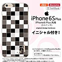 i6plus スマホケース iPhone6 Plus/iPhone6s Plus ケース アイフォン6/6s プラス イニシャル スクエア グレー nk-i6plus-1016ini C
