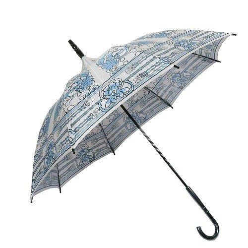【ANNA SUI】アナスイ 日本製 デザインフラワー 婦人長傘(雨傘) グレー