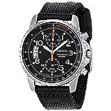 Seiko(セイコー) Chronograph Stainless Steel Cloth Strap Men's Watch クロノグラフ ステンレス鋼布ストラップ メンズ腕時計 [並行輸入品]