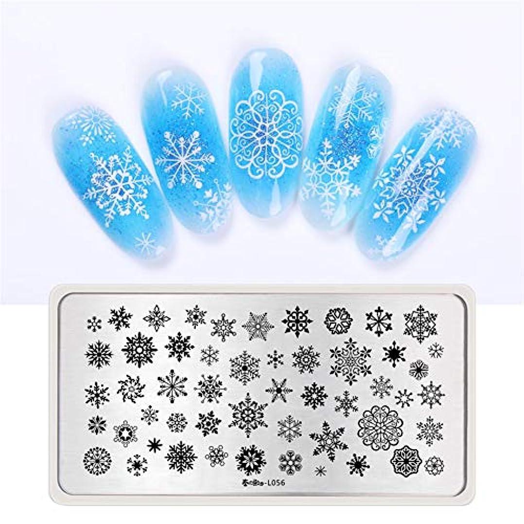誘導野生創始者春の歌 スタンププレート クリスマス 雪だるま 雪花 冬ネイル スタンプネイルプレートスタンピングプレートネイル用品