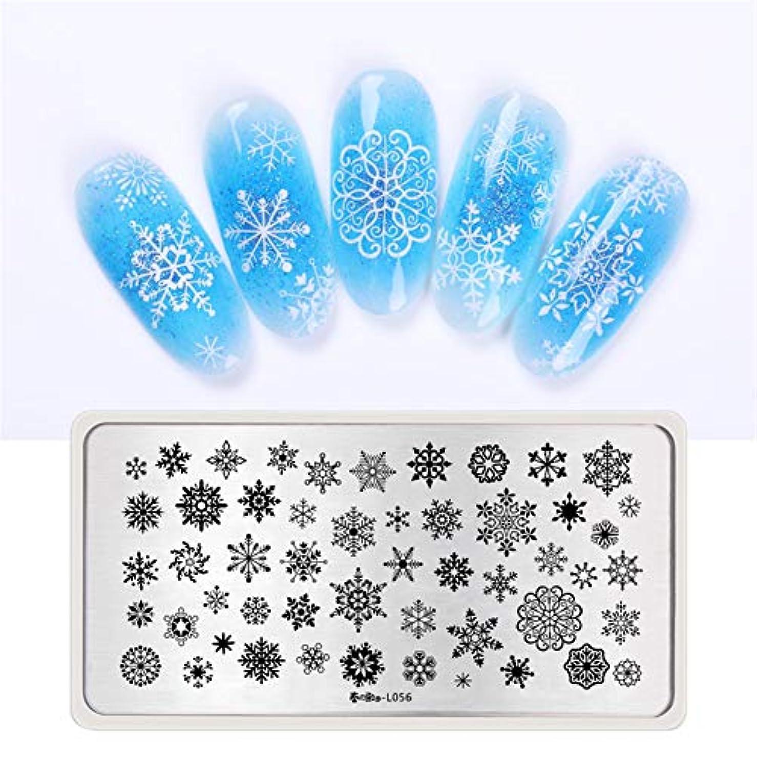 宮殿気づかない適合春の歌 スタンププレート クリスマス 雪だるま 雪花 冬ネイル スタンプネイルプレートスタンピングプレートネイル用品