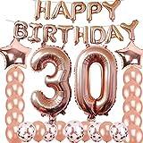 30歳の誕生日 デコレーション パーティー用品 ジャンボ ローズゴールド ホイルバルーン 誕生日パーティー用品 記念日 イベント デコレーション 卒業式 デコレーション スイート30 パーティー 30周年