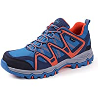 The First Outdoor Mens & Womens Lightweight First-Tex Waterproof Hiking Running Shoes Unisex Lace Up Trekking Sneakers Sports