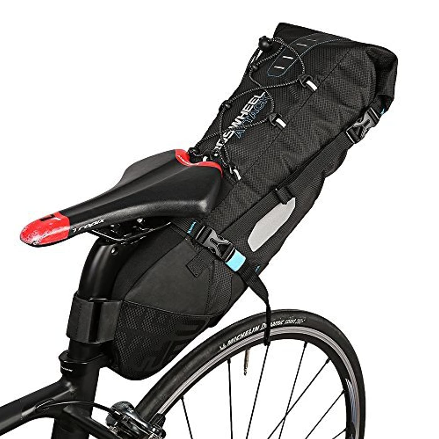 風変わりな境界ジーンズROSWHEEL 131372 Water-resistant 10L Bike Tail Bag Bicycle Rear Pack