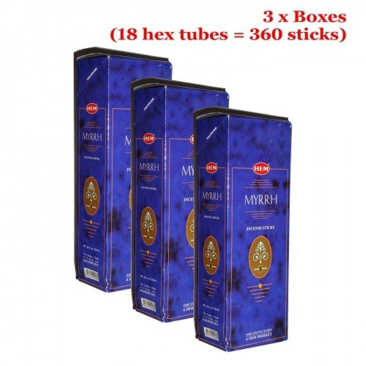 平等木製寝てるHemミルラ香、3ボックス – (360 Sticksバルクper order)