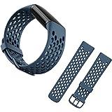 【YXHH】 Fitbit Charge5 バンド, スポーツ交換バンドストラップ 耐衝撃 防汗 適応 Fitbit Charge5(blue )