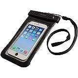 オウルテック 防水・防塵ケース もしもの時でも安心メーカー保証 iPhone 6s / 6sPlus等対応 最高級保護レベルIP68取得 ネックストラップ付 ブラック