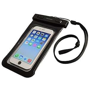 オウルテック iPhone 7/7Plusホームボタン対応 防水・防塵ケース もしもの時でも安心メーカー保証 ドライバッグ 両面透明 海/釣り/お風呂 最高級保護レベルIP68取得 ネックストラップ付 ブラック