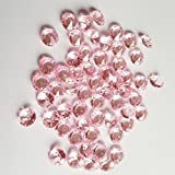 AiFanS 2000Pcs 6.5mm Pink Acrylic Diamond Gems Crystal Rocks For Table Scatter Or Table Confetti