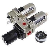 Perfk 空気圧レギュレーター ダブルフィルター付き スプレーコンプレッサー エアーツール