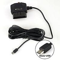 ドライブレコーダー用電源ケーブルOBD接続 電源スイッチ搭載24時間駐車監視 降圧ケーブル (Micro USB)