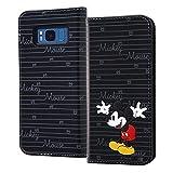 レイ・アウト Galaxy S8 ケース ディズニー 手帳型 スタンディング カーシヴ/ミッキーマウス RT-DGS8T/MK