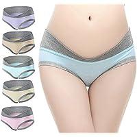 E Support 5 Pcs Women's Cotton Maternity Pregnant Mother Panties Lingerie Briefs Underpants Underwear