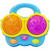 Baby Portable Bongo Drums. Educational Toy for Music Learning and Fun Entertainment for Ages 9 Months to 4 Years