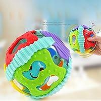 RaiFu ハンド ベール 赤ちゃん ソフト 中空 ボール 男の子と 女の子  カラフル な フラッシュ ラトル Teether ボール ランダムカラー