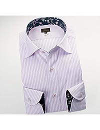 RSD696-005 (スタイルワークス) メンズ長袖ワイシャツ ワイドカラー ストライプ | 薄紅