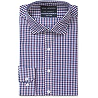 Van Heusen Men's Euro Tailored Fit Shirt, Navy and Purple Multi Check