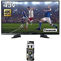 パナソニック 43V型 液晶 テレビ VIERA TH-43EX600 4K対応 HDR対応 + ハイスピードHDMIケーブル 4Kハイグレード 1.5m ブラック RP-CHK15-K セット