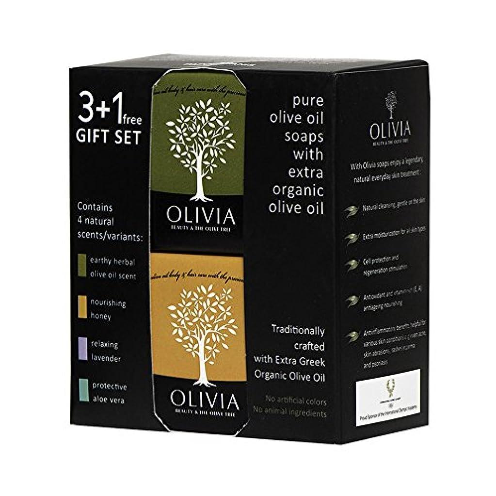 繕うユーモア属するOlivia(オリビア) ナチュラルバーソープ 3+1フリーギフトセット